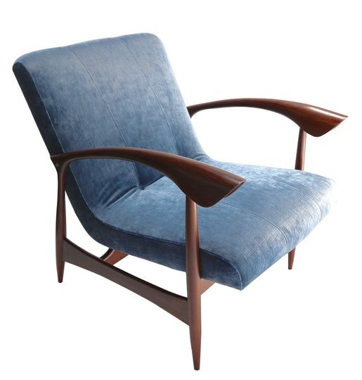 Pair Of Brazilian 1960s Armchairs  MidCentury Modern, Upholstery  Fabric, Wood, Armchairs  Club Chair by Adesso Eclectic Imports