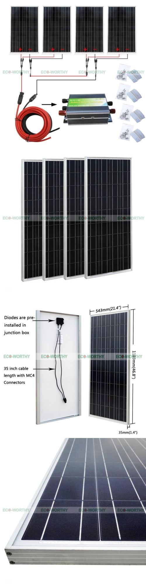 Solar Panels 41981: 400W Off Grid Solar Panel Kit:4*100W Solar Panel For Home Rv 24V Power System -> BUY IT NOW ONLY: $550.15 on eBay!