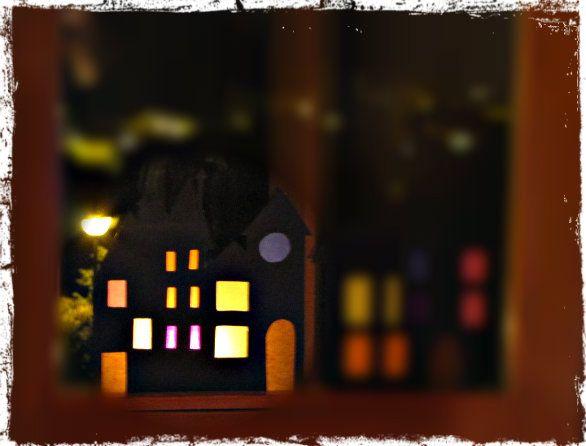 Giocabosco: creare con Gnomi e Fate: Tutorial villaggio di carta alla finestra