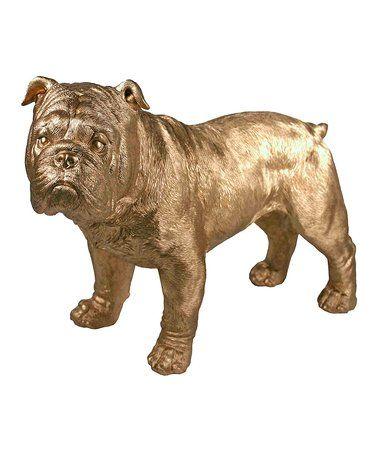 Gold Bulldog Shelf Décor by Streamline #zulily #zulilyfinds