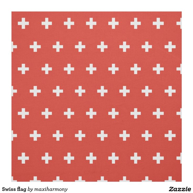 Swiss flag fabric