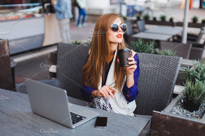 Woman drinking coffee by sergey.kozlov1815 https://crmrkt.com/zo26x