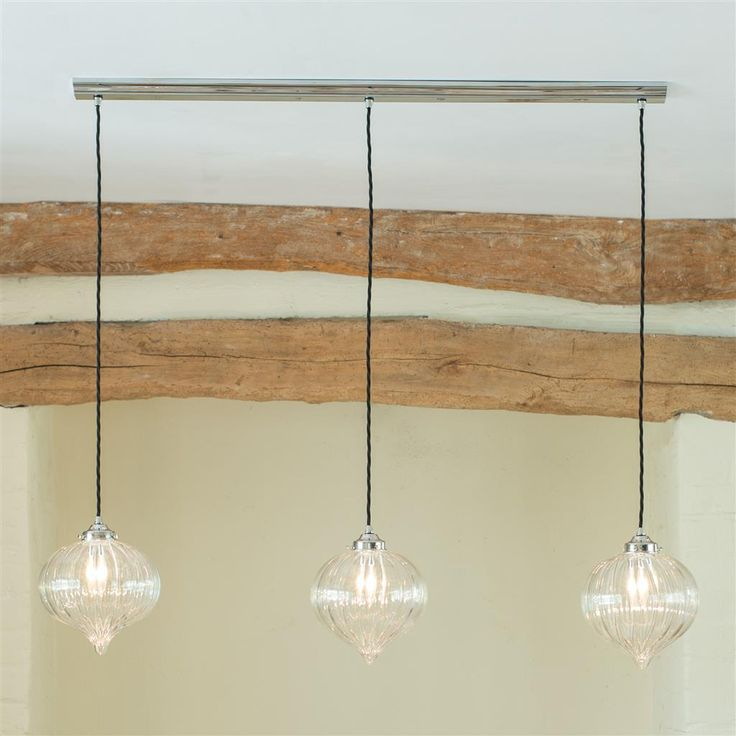 A Stylishly Designed Triple Glass Ceiling Track Light In A Choice Of  Stunning Finishes. Ideal For Hanging Over A Dining Table Kitchen Island Or  Worktop.