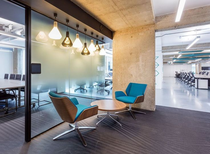 Kruze 20v chairs by boss design at all response media office in clerkenwell london