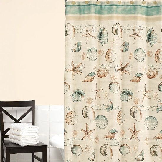Sea Splash Shower Curtain from Kohl's. Featured on Beach Bliss Living: http://beachblissliving.com/beach-shower-curtain/ Kohl's has variety of lovely shower curtains!