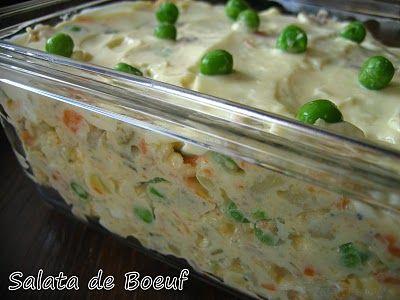 Salata de Boeuf Recipe for Christmas Party (Romanian Potato Salad....yummmmy!)