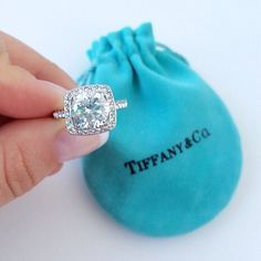 This is almost identical to my ring from Tiffany & Co! I wear a 4 carat colorless diamond beauty everyday. anddddd then there is my wedding band that just adds to the party! #spoiledwife #tiffanyandcolove