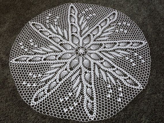 New 30 Handmade crochet   white doily 100% cotton lace