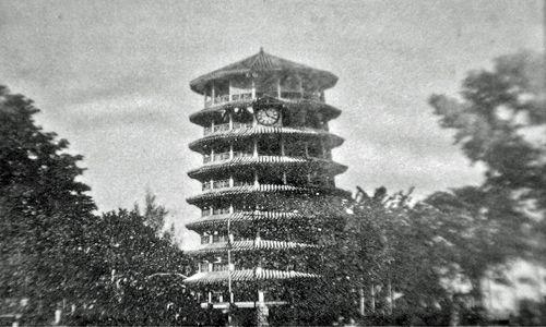 Leaning tower of Teluk Anson - landmark of my hometown circa 1920