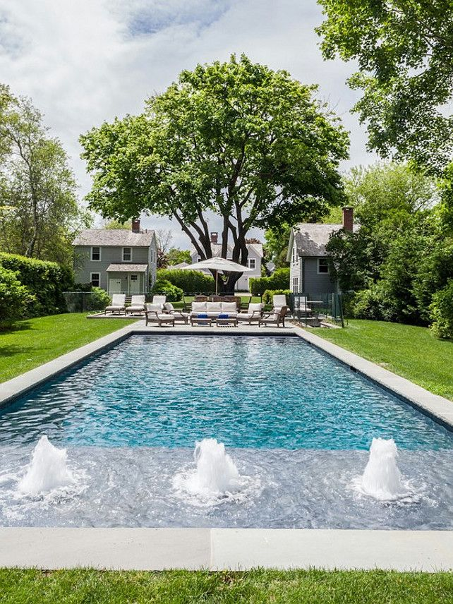 find this pin and more on pool simple rectangle - Rectangle Pool With Water Feature