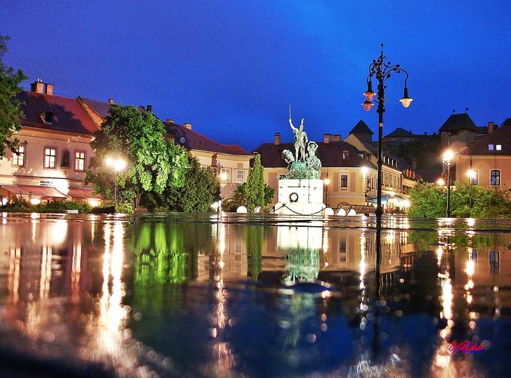 Dobo Square. Eger,Hungary