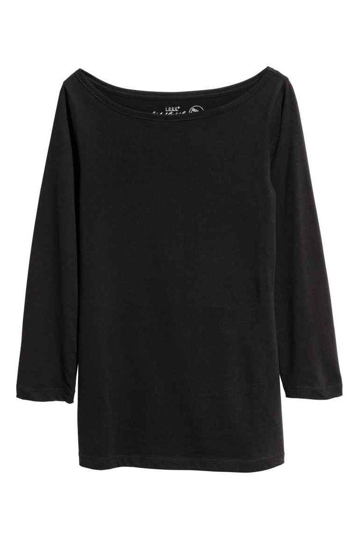Žerzejové triko - Černá - ŽENY | H&M CZ
