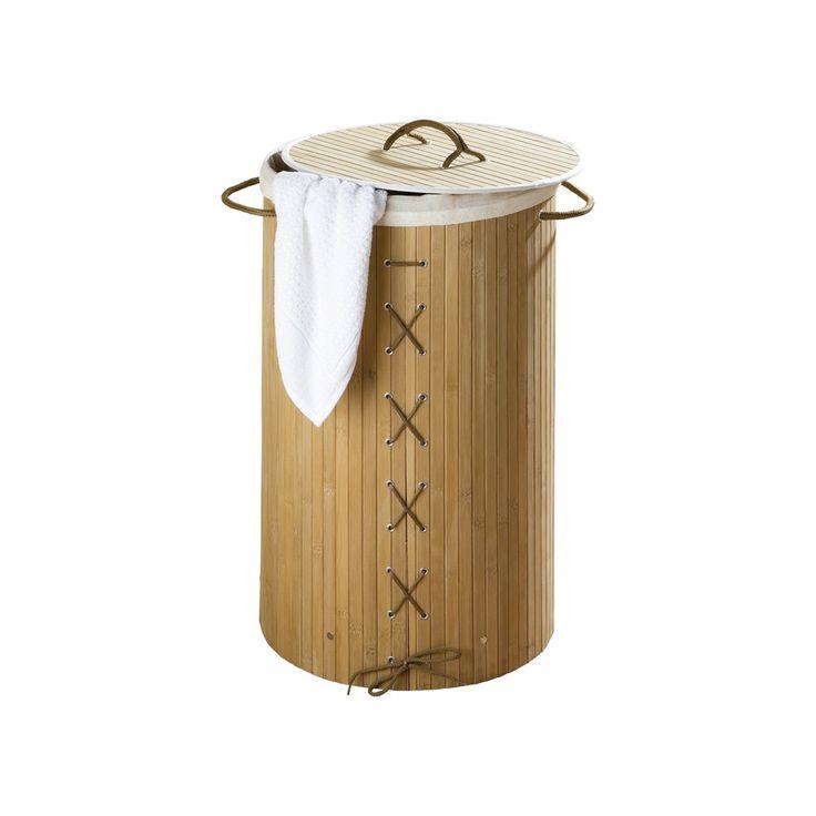#Panier #Linge. Vous n'avez pas assez de place à côté de la machine à laver ? Mettez ce panier à linge dans une chambre ou caché dans un placard et au moment de vous occuper de la lessive, vous le saisissez par les poignées et faites le tour des autres chambres pour le remplir !