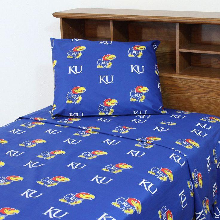 Kansas Jayhawks Team Spirit Blue Sheet Set