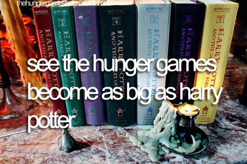 It is in my world.: Movie, Hunger Games Books