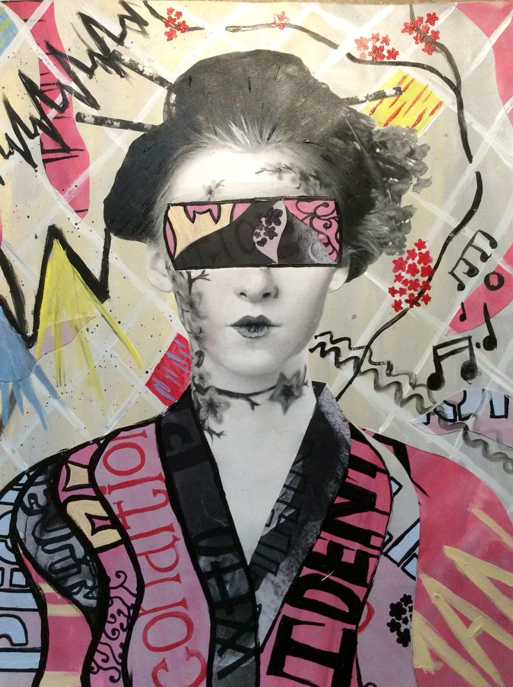 Urban abstract pop art inspired by hush. Using mixed media.