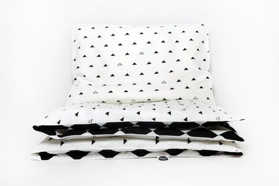 Monochrome double sided bedding from Nukko Design in scandi style - we love it :)