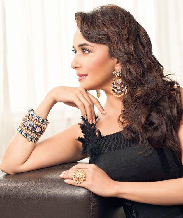 Madhuri Dixit Nene for Hi BLITZ Magazine September 2013 Photoshoot, Jewellery by Sunita Shekhawat Jaipur.