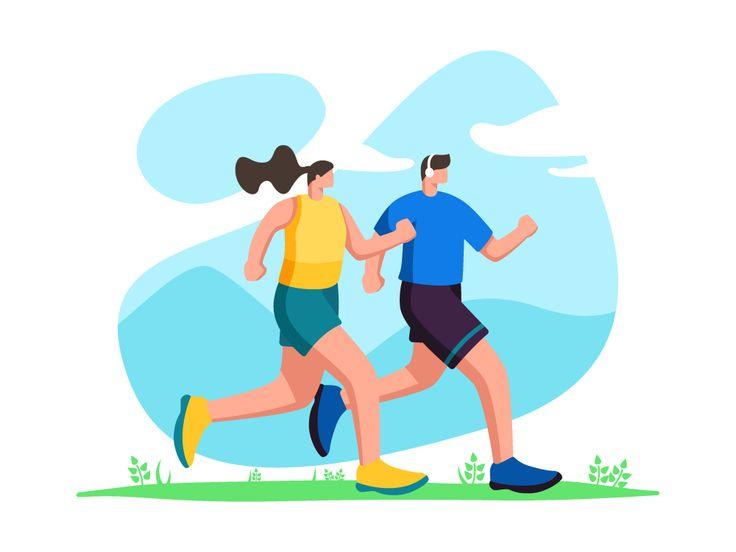 Jogging Illustration Jogging Workout Apps Illustration