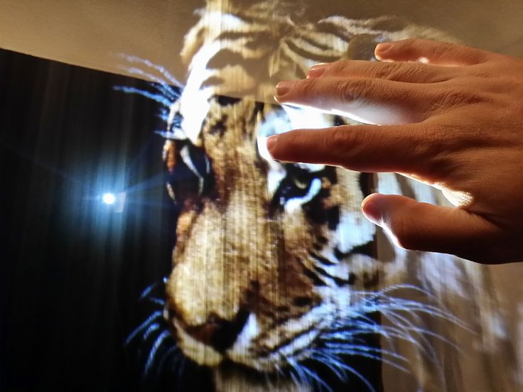"""Fog Projection Combined with Gestural Interface to Create """"Hologram Touchscreen"""""""