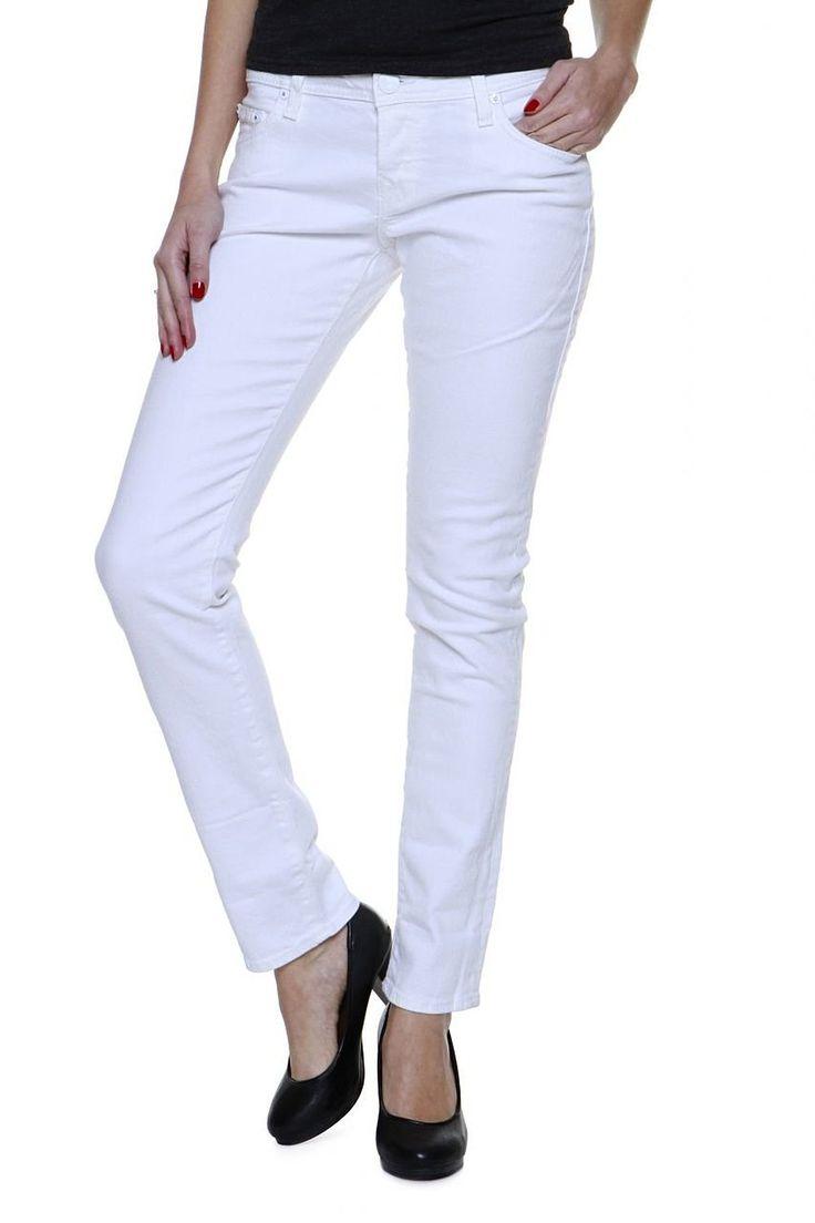 True Religion Slim Leg Jeans BRIANNA PHANTOM Wash 09 OPTIC WHITE , Farbe: Weiss: Amazon.de: Bekleidung