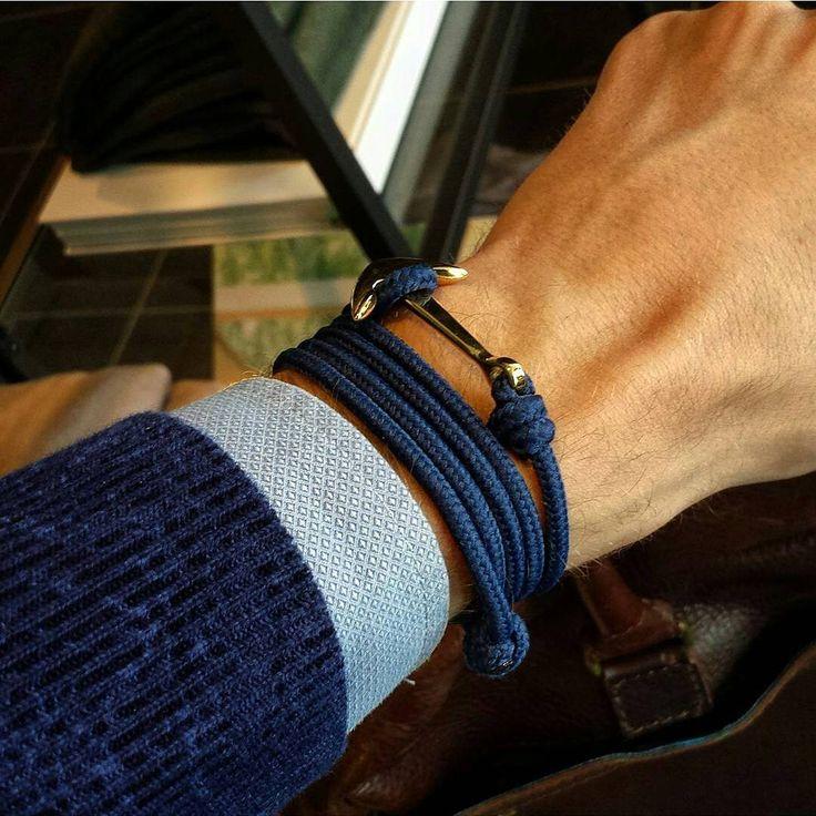 #stonebrace #anchor #bracelet #unisex #unique #fashionista #fashion #online #shop #netherlands #follow #fathersday #igdaily #sailing #rope #summer #collection #night #blue #jeans #oriented #instamood www.stonebrace.nl