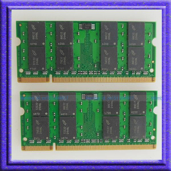 [Visit to Buy] Full Test!! 4GB 2x2GB PC2-5300 DDR2-667 667Mhz 200pin SO-DIMM Laptop Memory Notebook RAM ddr2 667 200PIN memory Free Shipping #Advertisement