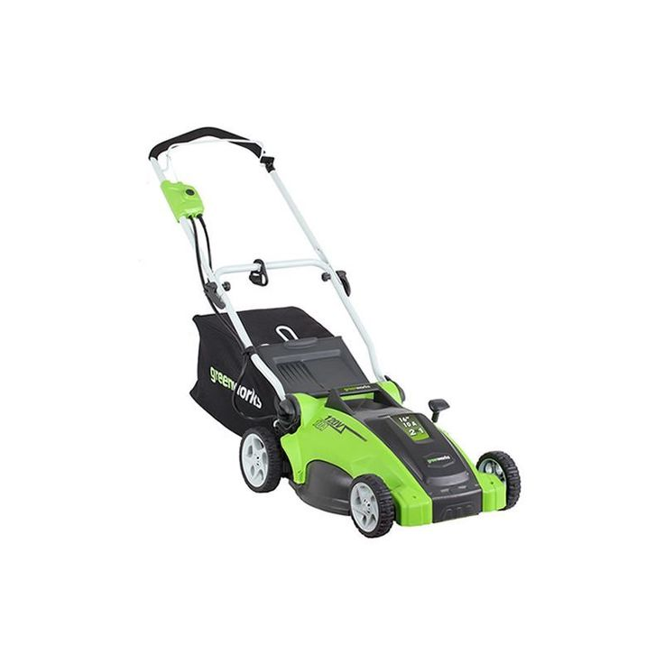 "GreenWorks 25142 10 Amp 2-in-1 Electric Push Lawn Mower with 16"" Cutting Width Push Lawn Mowers Walk Behind Mowers Electric Push"