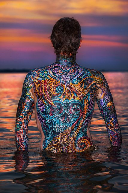 68 best full back piece tattoo 39 s images on pinterest for Blood poisoning tattoo