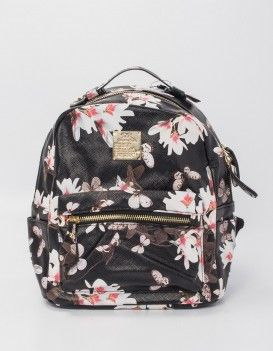 Фото - Рюкзак для прогулок с бабочками и цветами. Код товара: 215204