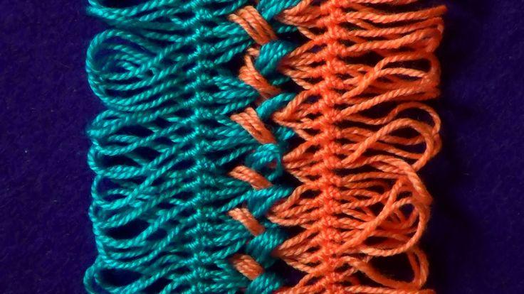 Вязание на вилке. Соединение лент