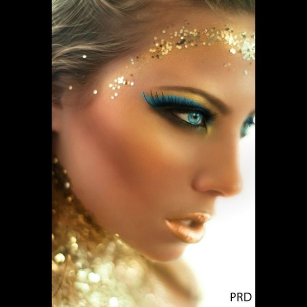Gold Make Created Using Taaz Virtual Makeover Try