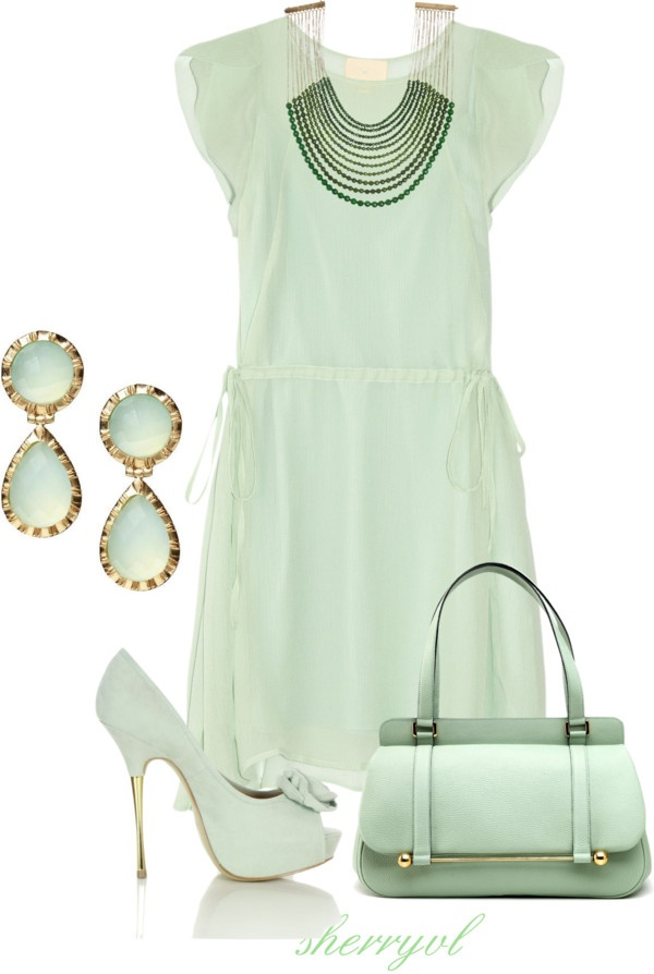 """""""Shades Of Green"""" by sherryvl on Polyvore"""