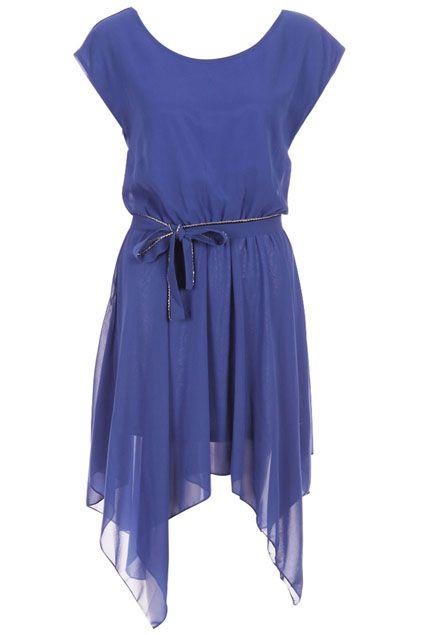 ROMWE | Asymmetric Dual-tone Blue Dress, The Latest Street Fashion #RomwePartyDress.