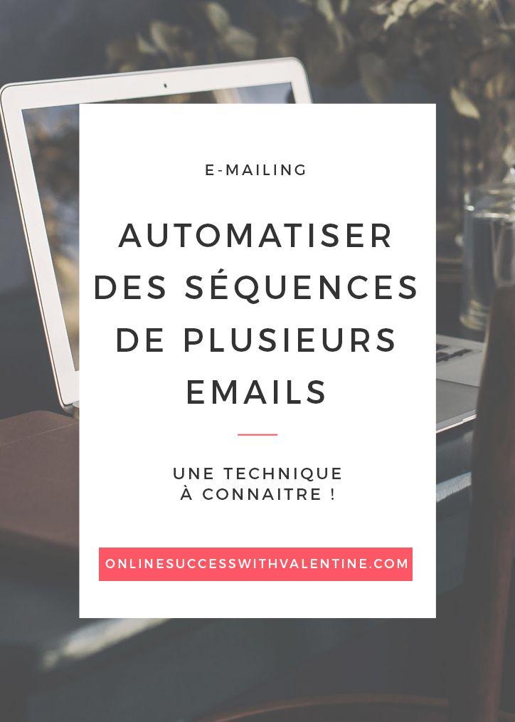 E-mail, newsletters, e-mailing, MailChimp, automatisation, séquences e-mails