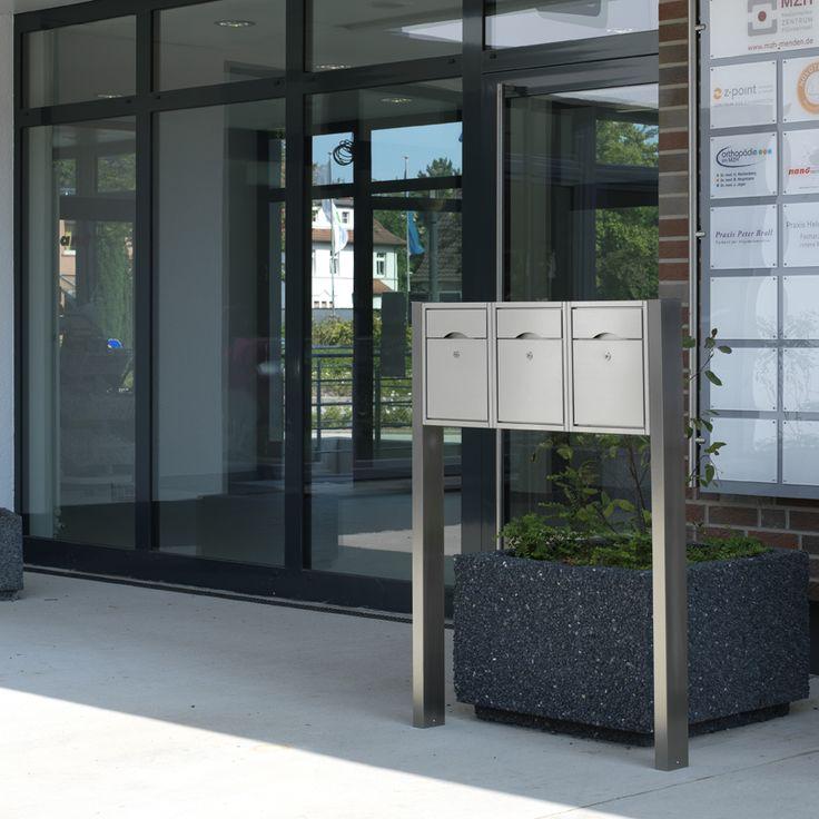 690774 Sonder Brievenbus Briefkasten freistehend post-box Edelstahl