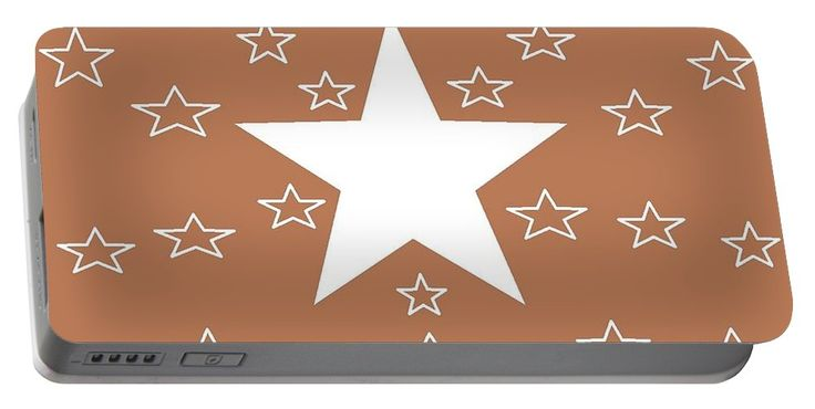 Portable Battery Charger (2 sizes) of 'Texas Stars Forever' by Sumi e Master Linda Velasquez.