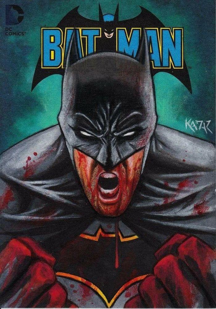 Justice League BATMAN Topper Sketch Card by Frank Kadar cryptozoic