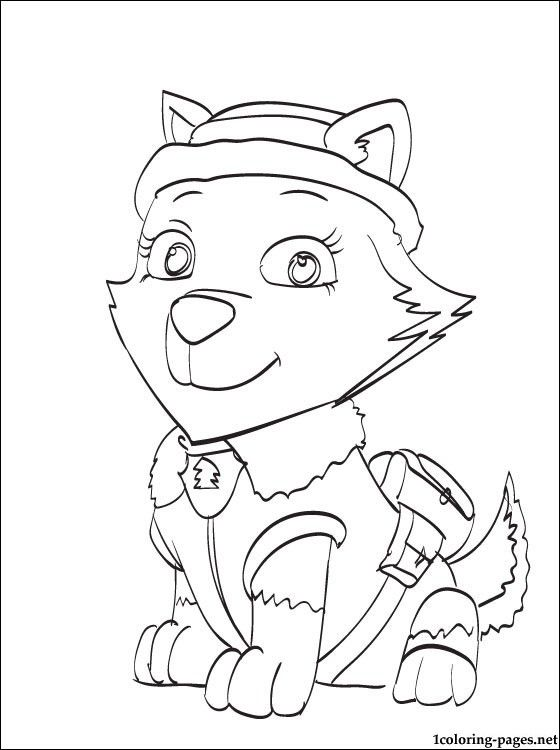 Paw Patrol Tundra Coloring Pages : Everest paw patrol coloring page pages color