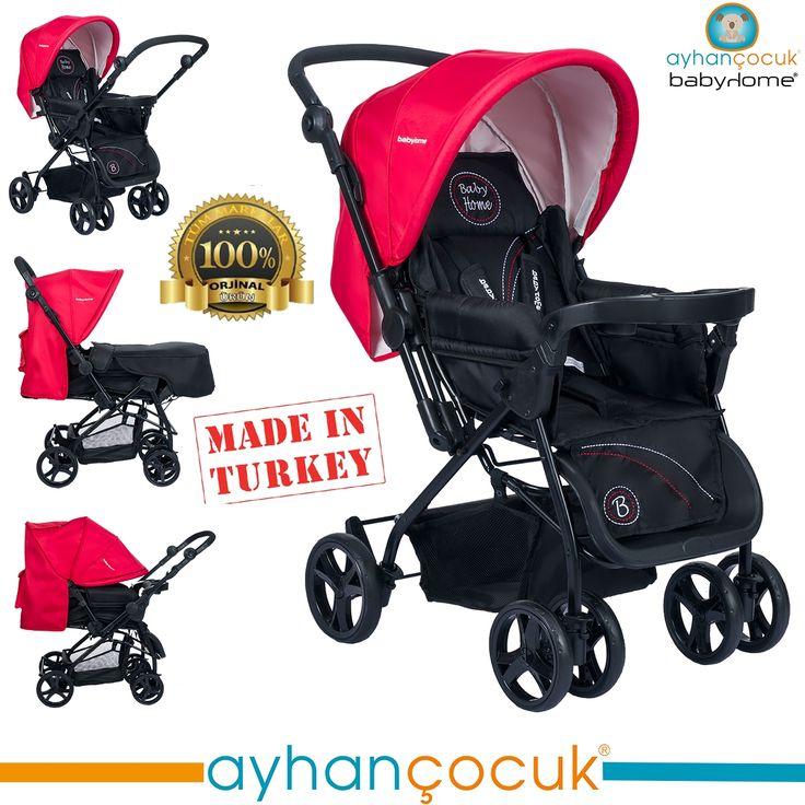 Babyhome BH-111 Tepsili Çift Yönlü Bebek Arabası - Ayhan Çocuk | Anne ve Bebek Ürünleri Mağazası - Kampanyalar