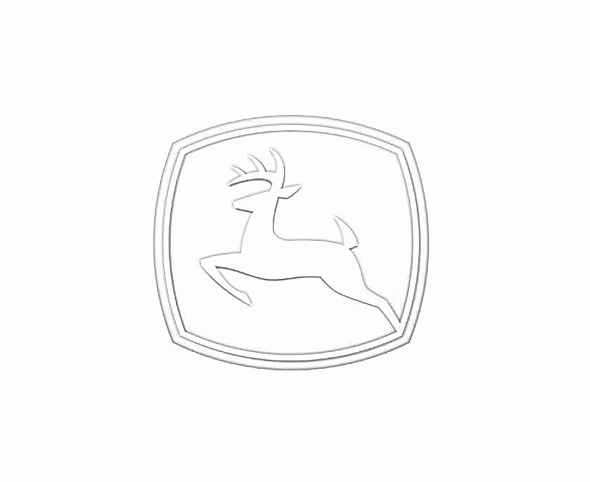 John Deere Logo Coloring Page Sketch Coloring Page