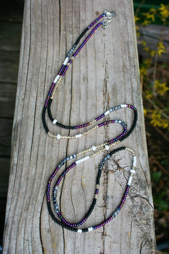 Long Seed Bead Multi Purpose Bohemian Wrap by labellesavage - 43 inches