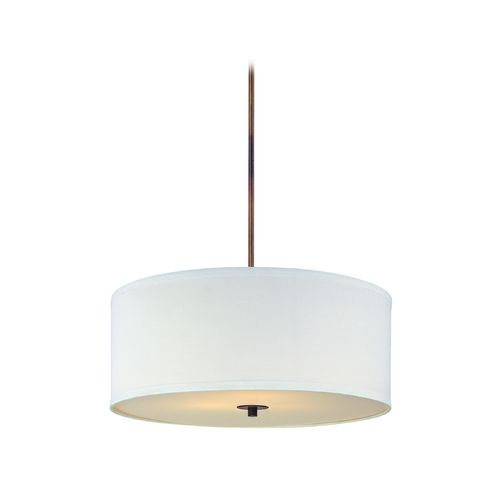 Design Classics Lighting Bronze Drum Pendant Light with White Shade DCL 6528-604…