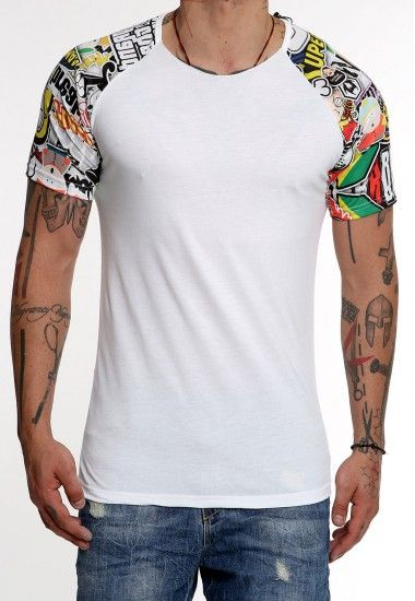 cartoon sleeves #vagrancylifestyle #handmade #tops #man