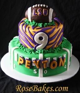 LSU Football Birthday Cake + A Near Cake Disaster! LSU Football Birthday Cake – Rose Bakes