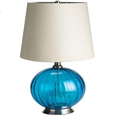 Turquoise Glass Lamp Pier One