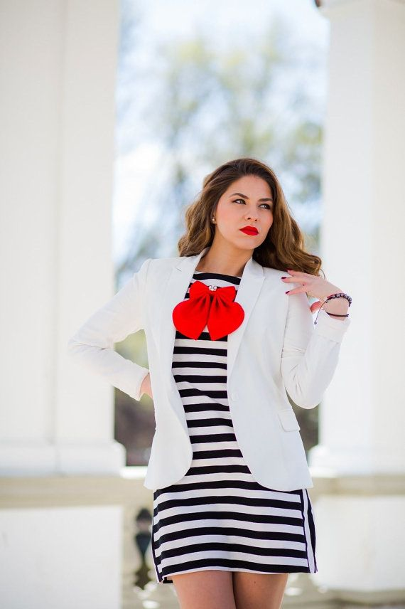 Red Cherry Matte Silk Women's Bow Tie Genuine by #BowsByVaniaSzasz #Etsy #womanbowtie