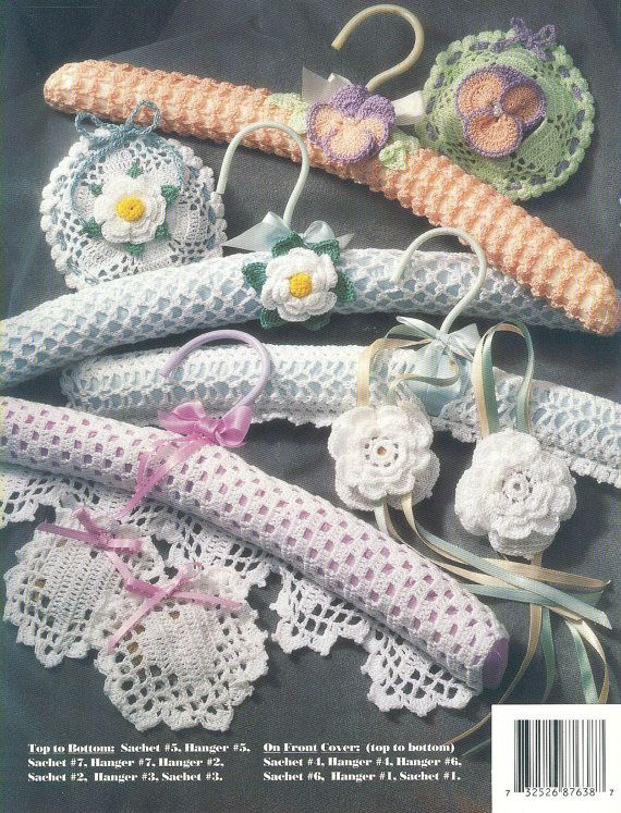 Thread Crochet HANGERS and SACHETS - Annies Attic, 1992