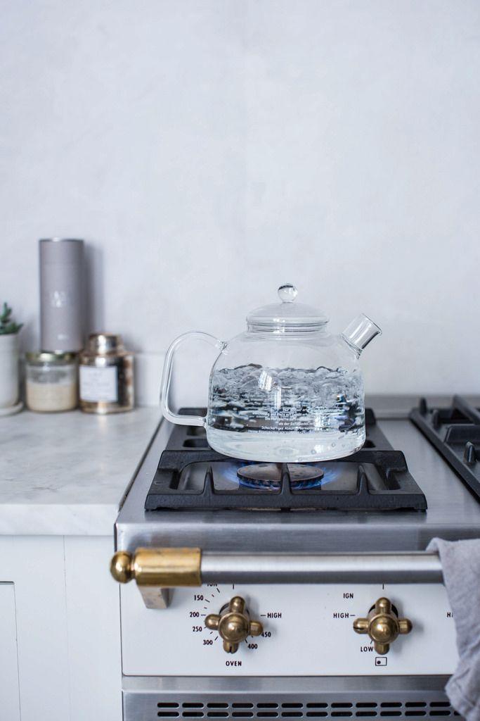Glass tea kettle
