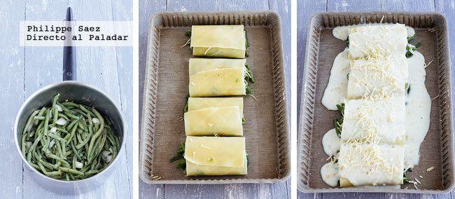 Lasagna Verduras Prep